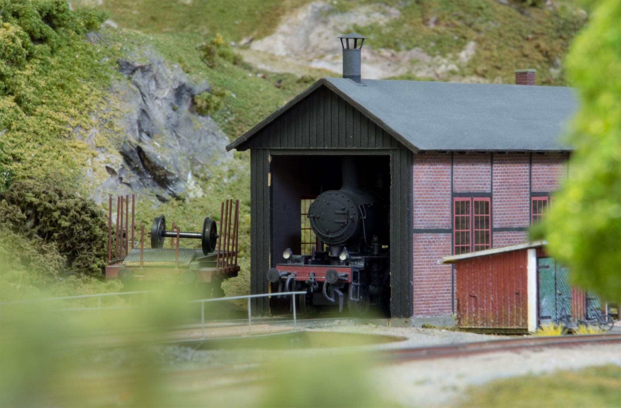 Remisen i Korted, scratchbygget af K-A Karlsson (Forbillede: Bengtsfors)