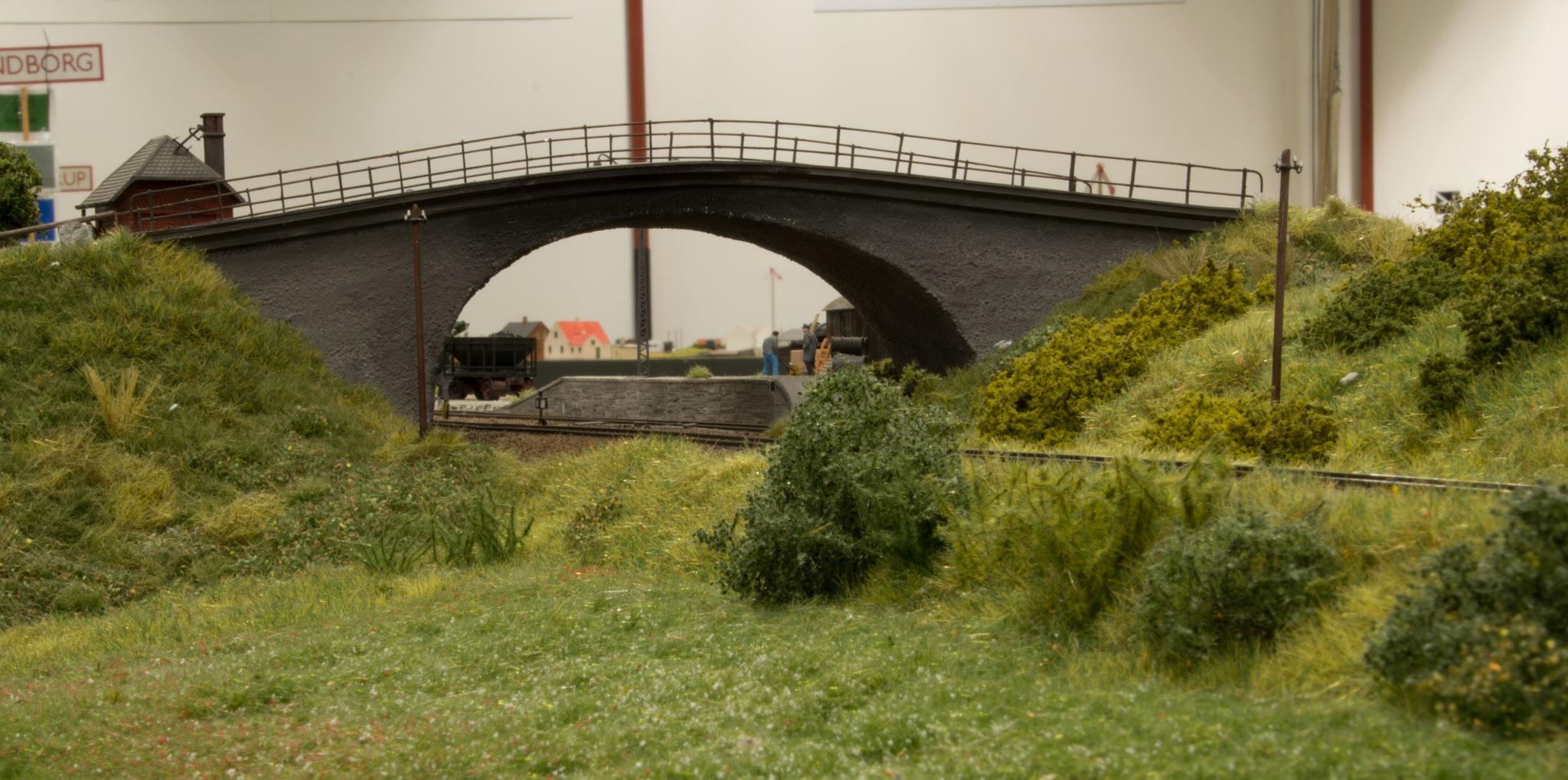 Vejbro ved Vossbergen på den tyske strækning