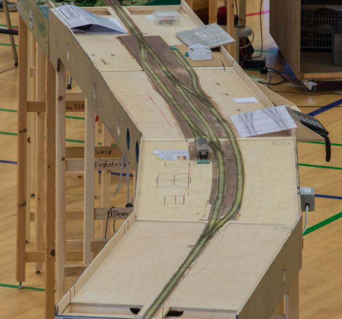 Frøstrup privatbanestation.  Bygges af Ulrik Demant
