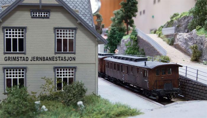 Model af Grimstad station