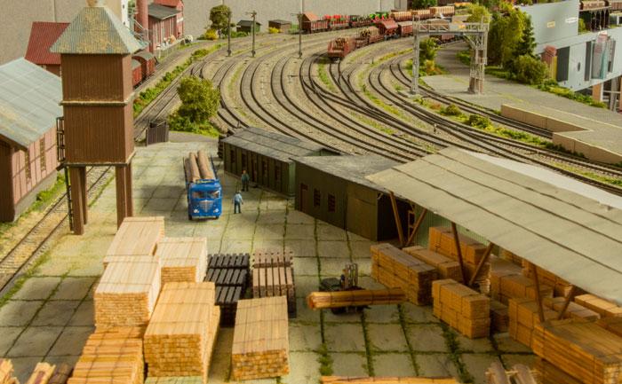 Trævarepladsen på Holstedt station