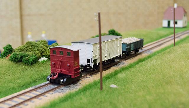 Lille godstog fra Havreland mod Sæby