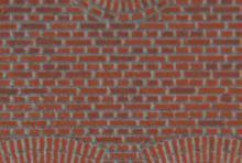 Model af mur efter farvelægning