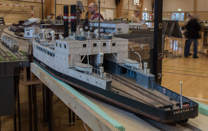Christian IX jernbanefærge på Hirtshavn - en utrolig flot og detaljeret model!