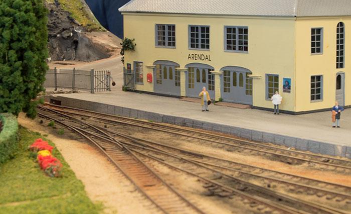 Model af Arendal station
