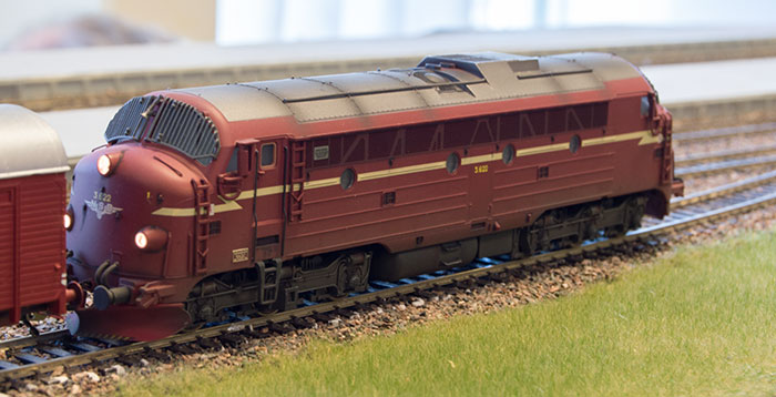 Patineret model af en Di3