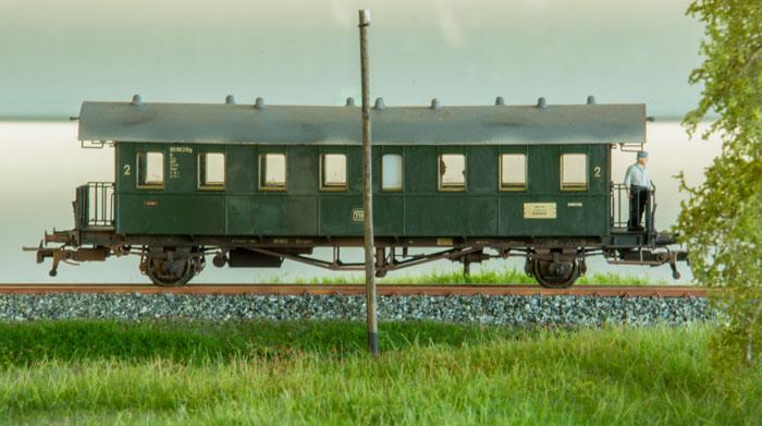 Personvogn på smalsporsanlægget