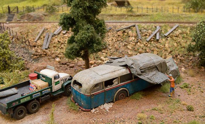 Modul med gamle køretøjer