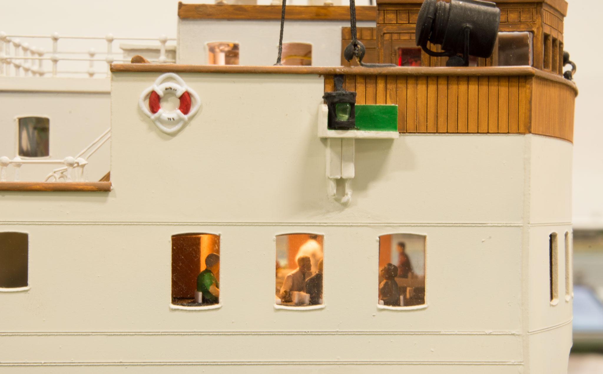 Andreas Lenz' håndbyggede model af færgen S/S Danmark